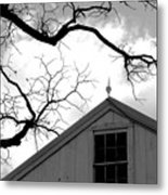 Black Lightning Metal Print