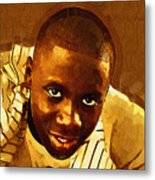 Young Black Male Teen 1 Metal Print