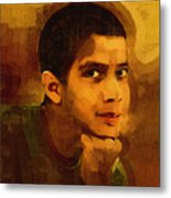 Young Black Male Teen 3 Metal Print
