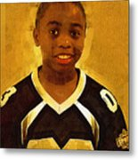 Young Black Male Teen 6 Metal Print