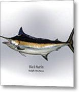 Black Marlin Metal Print by Ralph Martens