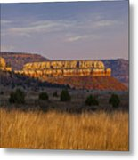 Black Mesa Sunrise Metal Print by Charles Warren
