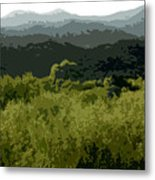 Black Mountains Metal Print