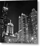 Black Night In The Windy City Metal Print