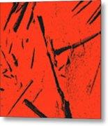 Black On Red Metal Print