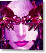 Black Orchid Eyes Metal Print