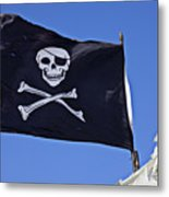 Black Pirate Flag  Metal Print