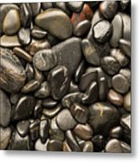 Black River Stones Portrait Metal Print by Steve Gadomski