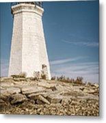 Black Rock Harbor Lighthouse II Metal Print