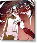 Black Rock Shooter Metal Print