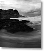 Black Rock  Swirl Metal Print