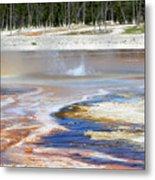 Black Sand Basin Geysers In Yellowstone National Park Metal Print