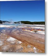 Black Sand Basin In Yellowstone National Park Metal Print