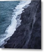 Black Sand Beach, Iceland Metal Print