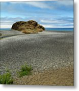 Black Sand Beach On The Lost Coast Metal Print