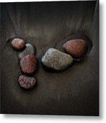 Black Sand Stones Metal Print
