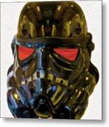 Black Stormtrooper - Pa Metal Print