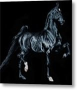 Black Tie Affair Featuring Saddlebred Champion Undulata's Made In Heaven Metal Print