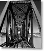 Black Tracks Metal Print