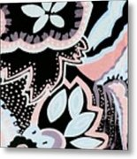 Black White And Pink Allover Metal Print