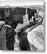 Black White Colorado River  Metal Print