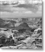 Black White Filter Grand Canyon  Metal Print