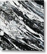 Black White Modern Art Metal Print