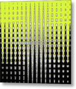 Black Yellow White With Abstract Action Metal Print