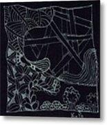 Black Zen 4 Metal Print