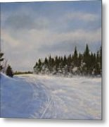 Blackbear Ski Trail Metal Print