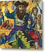 Blackbeard Metal Print