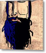 Blackbeard The Pirate Metal Print