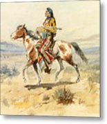 Blackfoot Indian. A Crow Scout Metal Print