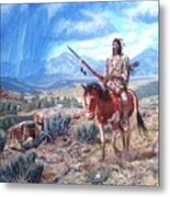 Blackfoot Warrior Metal Print