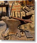 Blacksmith - Anvil And Hammer Metal Print