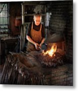 Blacksmith - Blacksmiths Like It Hot Metal Print by Mike Savad
