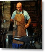 Blacksmith Metal Print by Kim Michaels