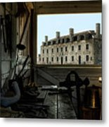 Blacksmith Shed Metal Print by Peter Chilelli