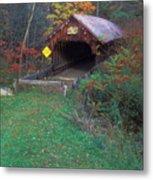 Blacksmith Shop Covered Bridge Metal Print