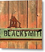 Blacksmith Sign Metal Print