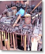 Blacksmith Tools Metal Print