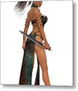 Blackthorn Woman Warrior Metal Print