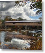 Blair Covered Bridge Metal Print