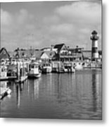 Black And White Oceanside California Marina  Metal Print