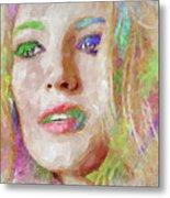 Blake Lively Watercolor Metal Print
