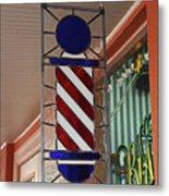 Blake's Barbershop Pole Vector II Metal Print