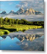 Blame It On The Tetons Metal Print