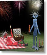 Blanche And Judy Celebrate The Fourth Metal Print