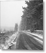 Blanchland Road In Winter, Slaley Woods Metal Print