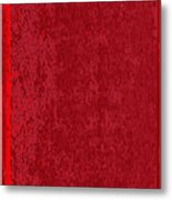 Blank Red Book Cover Metal Print
